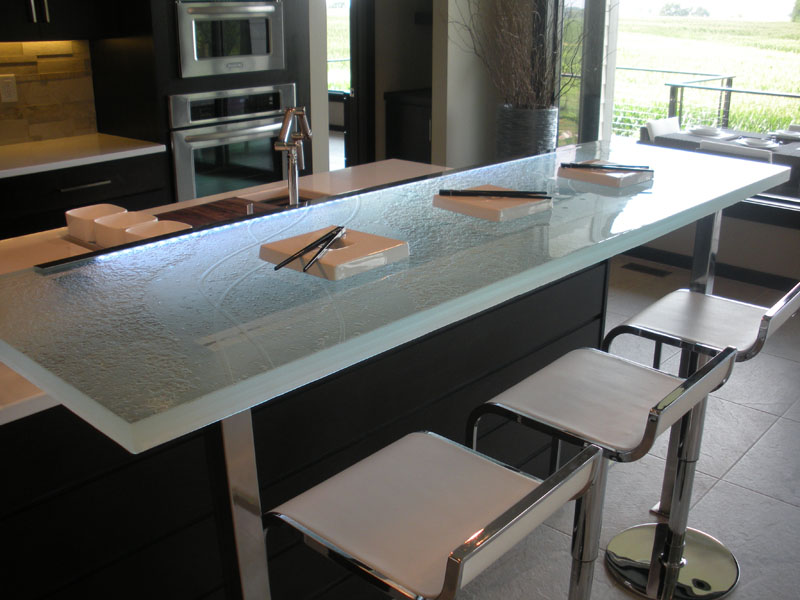 Raised Glass Bar Top Bar Cbd Glass