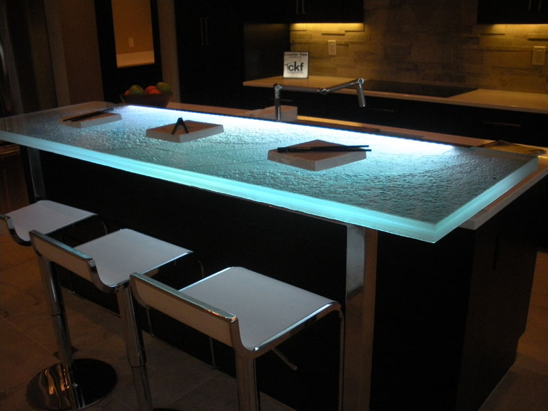Glass Countertop Options : Raised Glass Bar Top Bar CBD Glass