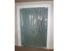 Double Doors (sandblasted lines)