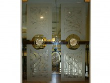 Glass Double Doors&Medalions