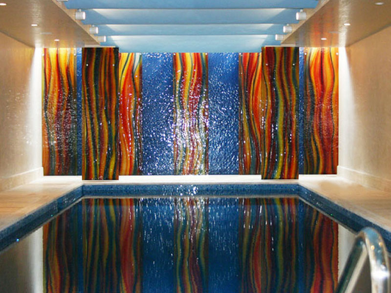 Textured multicolored glass dw17 cbd glass for Textured glass panels
