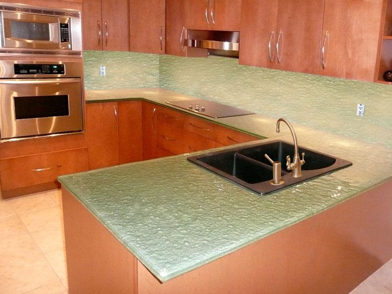 Glass Kitchen Countertops : Colored Glass Countertop Kitchen CBD Glass