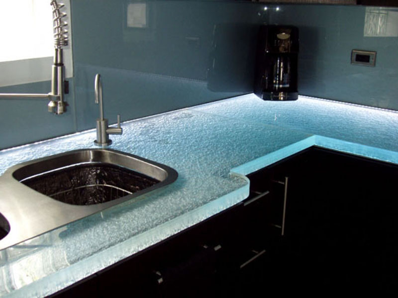GLASS KITCHEN COUNTERTOP (KC18)