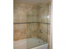 tub divider-clear