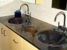 DOUBLE INTEGRATED GLASS SINK (IS16)