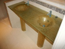 DOUBLE INTEGRATED GLASS SINK (IS18)