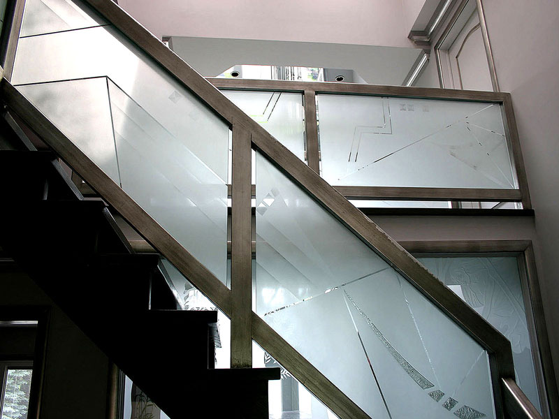ETCHED GLASS RAILING G RL15 CBD Glass