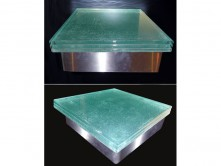 Laminated tripple glass countertop