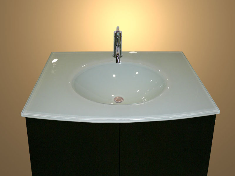 Integrated Bathroom Sink : ... sink is27 shown in backpainted white glass category integrated sinks