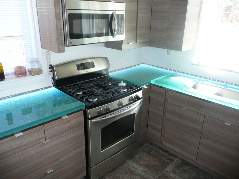 Kitchen glass countertop (KC10)