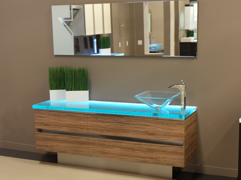 Glass countertops for bathrooms