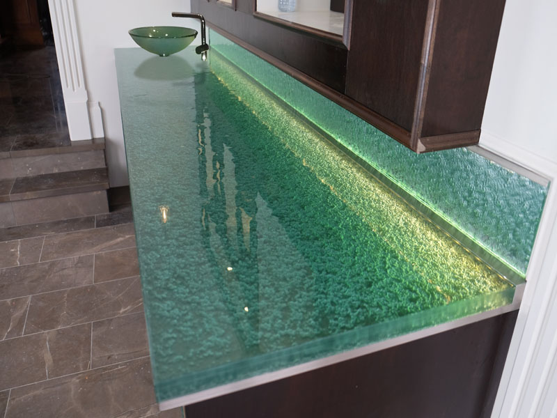 Superieur Bathroom Glass Countertop (BC47)