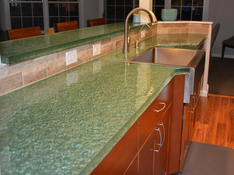 Kitchen Glass Countertop Bill Owad 1