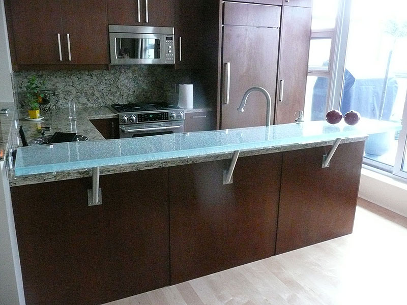 Raised Glass Countertop For Eating Area And Bars Cbd Glass