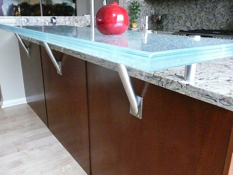 ... Raised Glass Countertop For Kitchen And Bar Projects By CBD Glass