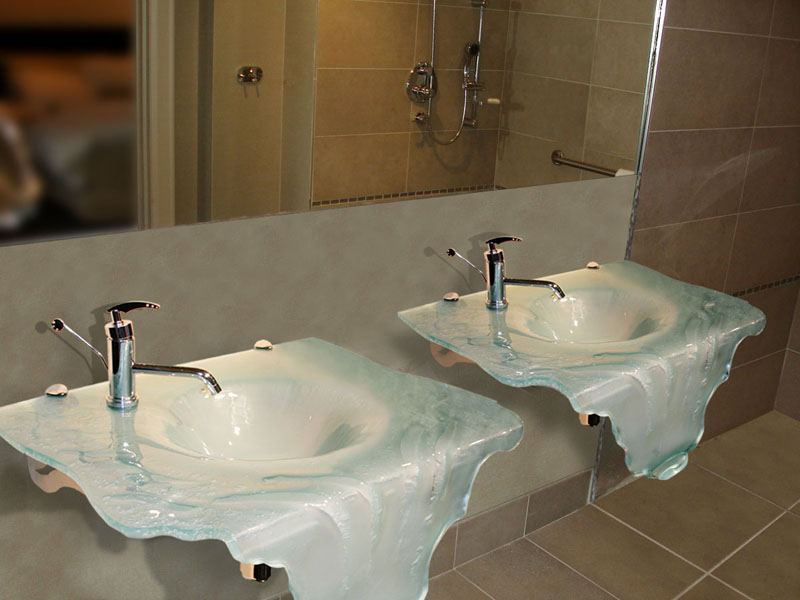 Wall Mount Sink Bathroom Sinks Cbd Glass