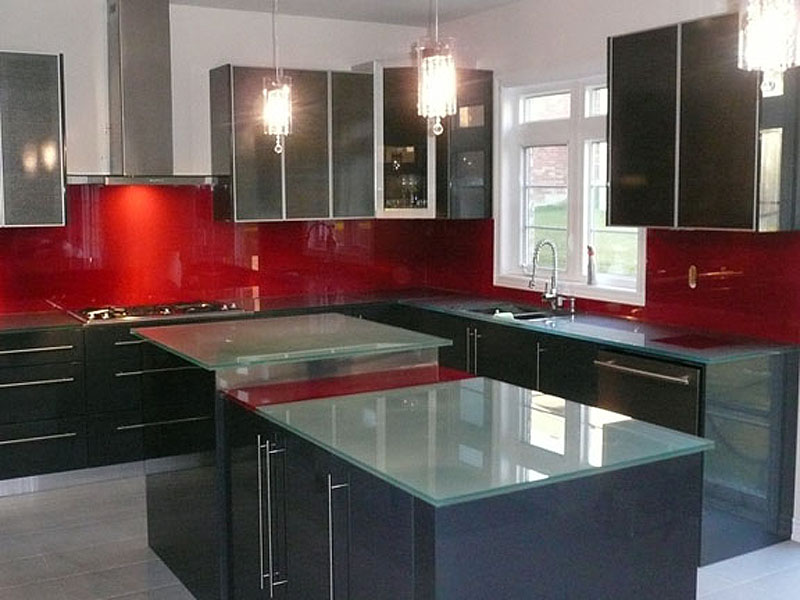 Shown In Backpainted Gl Countertop And Backsplash