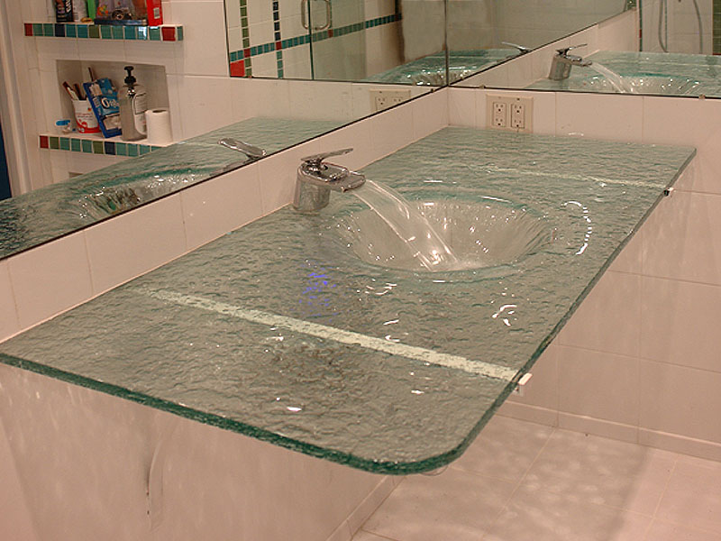 Wall Mount Glass Sink Custom Sink Cbd Glass