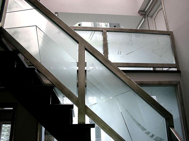 Etched Glass Railing G Rl15 Cbd Glass