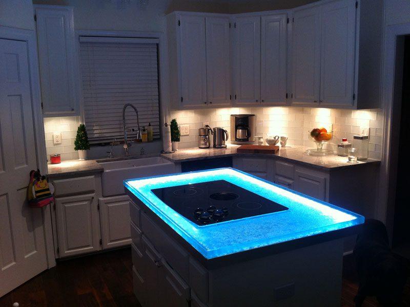 Glass Kitchen Island   CBD Glass
