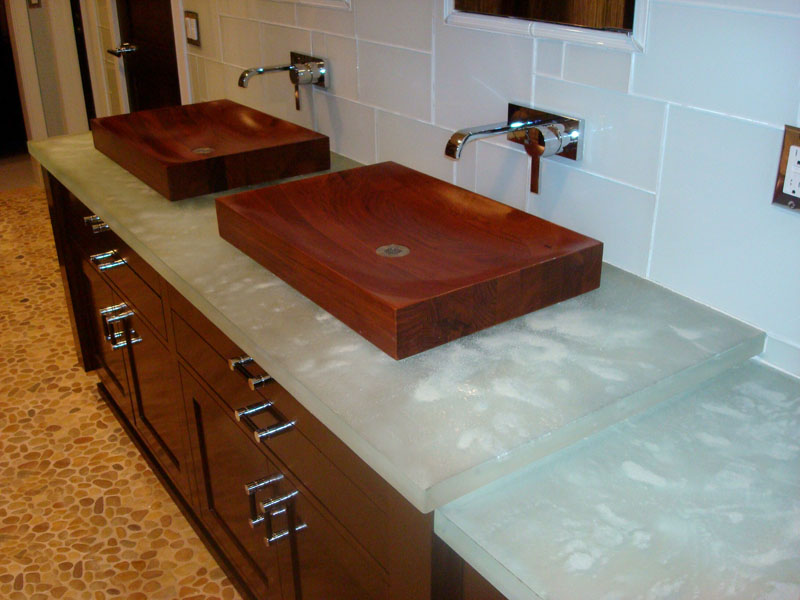 White Onyx Bathroom Countertop Image