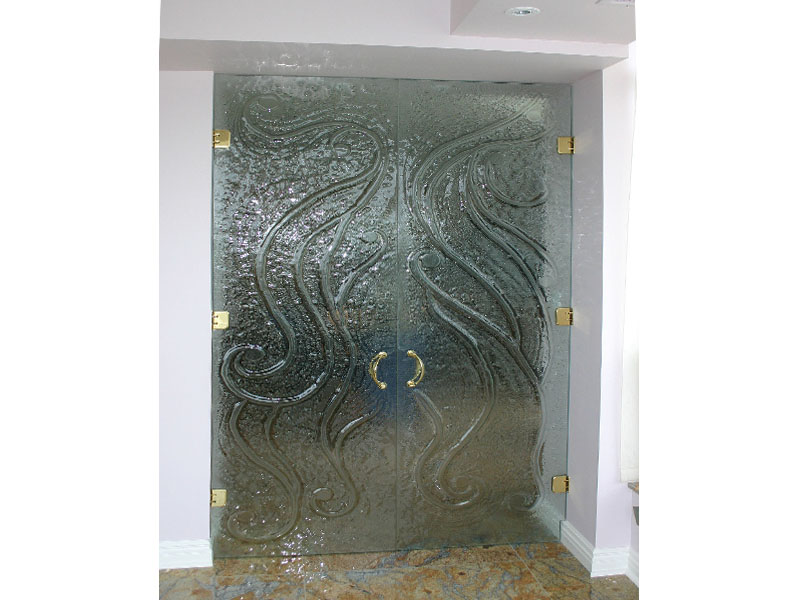 Textured Glass Door Frm 12 Cbd Glass