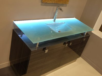 Integrated Glass Sinks Colored Glass Cbd Glass