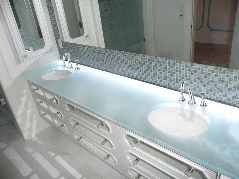 Merveilleux Glass Countertop U201cwhite Onyxu201d Glass (BC 12)