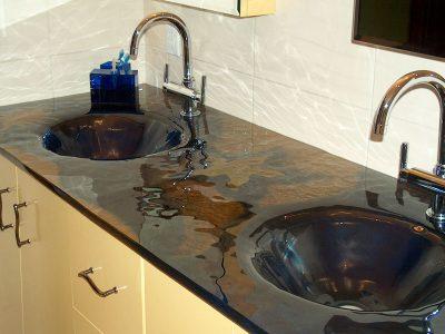 Integrated Glass Sinks, Basins & Vanities