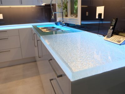 Glass Countertops for Kitchen, Bar, Bathroom | CBD Glass