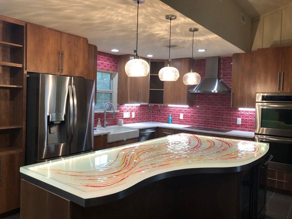Glass Island | Kitchen and Bar Glass Countertop | CBD Glass